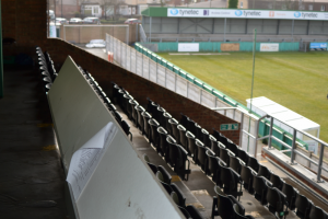 Croft Park press box
