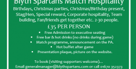 Commercial | Enjoy Matchday Hospitality for Just £35 Per Person