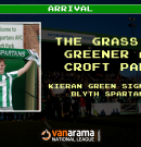 Arrival | The Grass is Greener for Kieran at Croft Park