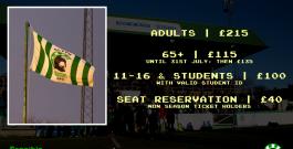 Announcement | Season Ticket & Matchday Prices for 2018/19 Season
