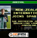 Arrival | Spartans sign New Zealand International on season long loan
