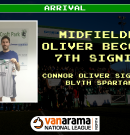 Arrival | Midfielder Connor Oliver signs on the dotted line