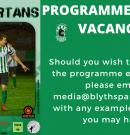 Media Vacancy | Programme Editor