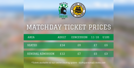 Boston United (H) 21/22 | Tickets on sale | Buy in advance